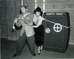 [Jack Benny and  Mary Livingston Pulling Benny's Vault]