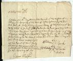 Receipt for First Annual Payment to the Montauk Indians by the Trustees of the Freeholders and...