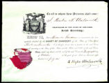 Alexander Gardiner, Certificate from Reuben H. Walworth, Admitted to the Court of Chancery as Counsellor and...