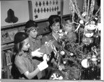 Brownies at the library, Christmas, 1965.