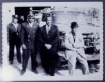 [Five African-American Men in Front of GHFD Firehouse with Fire Truck 1]