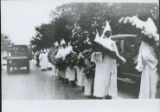 [KKK Parade Along A Road - Members With Bouquets]