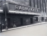 "Radio City Music Hall marquee, advertising William Powell and Carole Lombard in """"My Man..."