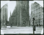 Trinity Church and Trinity Building, Broadway at Wall Street, New York City, after 1906. (Roege...