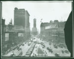 3 Longacre Square, Broadway and Seventh Avenue looking south from 47th Street, New York City,...