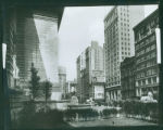 Fifth Avenue looking towards 42nd Street from front yard of New York Public Library at about 41st...
