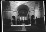 Interior of St. Paul's Chapel, New York City, 1915.