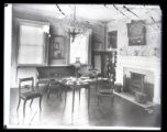 Interior of the Jumel Mansion, New York City, undated. Broken glass negative.