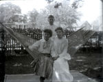 Angie and Nellie and Ada Moore in hammock at St. George's rectory, Hempstead, N.Y., September 4,...