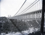 (Old) suspension bridge, Niagara Falls, undated.