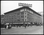 Broadway and West 57th Street, New York City, circa 1919: Hartford Tires, Fry Plugs, New York...