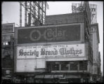 Broadway at 47th Street and Seventh Avenue, New York City, circa 1921: O-Cedar Furniture Polish,...