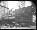 Broadway at West 47th Street, New York City, December 28, 1925: Arrow Collars (partial), Camel...