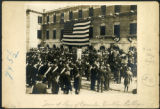 Brooklyn: scene of the laying of the cornerstone at Brooklyn College, corner of Vanderbilt Avenue...