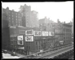 Sixth Avenue and West 27th Street, New York City, May 31, 1928: Bond Bread, Lucky Strike...