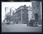 Brooklyn: unidentified street view with Hotel Bossert in the background, undated. Possibly the...