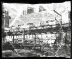 [Damaged negative] Sixth Avenue and West 47th Street, New York City, October 31, 1932: 2 empty...