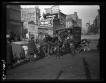 New York City: overturned horse cart on Chambers Street, ca. 1904.