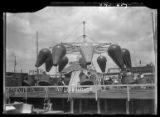 New York City: amusement park ride with hot air balloons, Coney Island, undated.