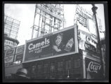 Broadway at West 47th Street, New York City, September, 1934: Camel Cigarettes, Coca-Cola...