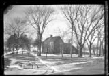 [3/4 view of an unidentified saltbox farmhouse, undated.]