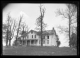 [Unidentified abandoned house on a hill, undated.]