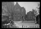 [Brooklyn?: Unidentified brick Dutch Revival house with stepped front gable, undated.]