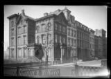 [Brooklyn: unidentified mansions and townhouses near the promenade, undated.]