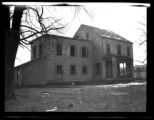 Newtown: [unidentified partially gutted house, undated.]