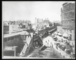 Broadway looking north from 33rd Street at the intersection of Sixth Avenue, New York City,...