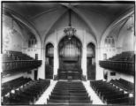 Manhattan: interior view of the Broadway Tabernacle (northeast corner of 56th Street and...