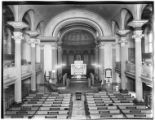 Manhattan: interior of St. John's Chapel, Varick Street, undated. Demolished in 1918.