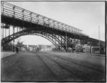 Manhattan: 125th Street Viaduct above Broadway, looking west, undated.
