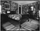 Bayshore, New York: bedroom with sleigh bed, Sagtikos Manor House, undated.