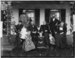 The Nostrand family on Shelter Island, New York, undated (ca. 1890-1900). Back row: Peter Elbert...