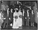 Unidentified group wedding portrait, undated. Seven people.