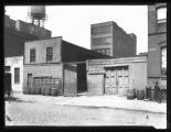 607-609 W. 47th Street, New York City, undated (ca. 1920). Sign reads 'Work horses for sale or...