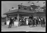 Food concessions, Brighton Beach, Brooklyn, undated (ca. 1920).