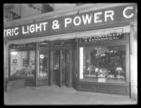 "Electric Light & Power Co."""" storefront at 138 Hamilton Place, Manhattan, undated..."