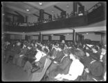 Interior church meeting at Amsterdam Avenue and 105th Street, New York City, November 23, 1914....