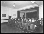 Interior church meeting at Amsterdam Avenue and 105th Street, third floor, New York City, November...