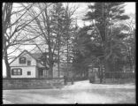 Entrance gate to grounds, St. Vincent's Retreat for the Insane, Harrison, N.Y., November 27, 1914.
