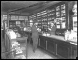 Interior of O. Krause & Son, pharmacist / apothecary, Seventh Avenue and 29th Street, New York...
