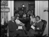 Bible study at Mrs. Smith's, 179 W. 93rd Street, New York City, April 11, 1916. Photographed for...