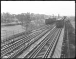 Unidentified elevated trains and tracks, Bronx (?), undated (ca. July-August 1918).