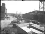 Grace Lines Pier 33, and the New York & Porto Rico Steamship Company Piers 34 and 35,...