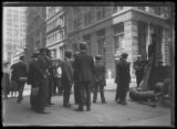 Crowd gathering to listen to a speech, New York City, undated (ca. August 1916). Photographed for...