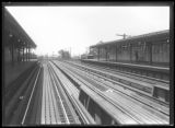 170th Street elevated subway station, Bronx, undated [ca. August 1918]. Probably photographed for...