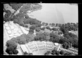 Aerial view of an unidentified camp, undated (ca. 1937). Probably the 1937 Boy Scouts' National...