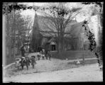 Churchgoers outside St. Anne's (?) in the Bronx, New York City, undated (ca. 1890-1900).